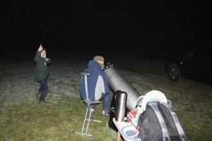Beobachtung von Jupiter durch das Dobson-Teleskop